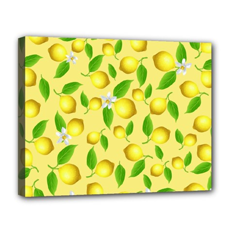 Lemon Pattern Canvas 14  X 11