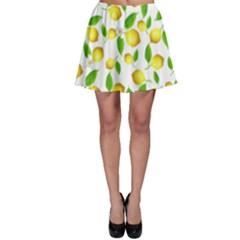 Lemon Pattern Skater Skirt