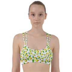 Lemon Pattern Line Them Up Sports Bra
