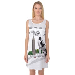 Great Dane Sleeveless Satin Nightdress