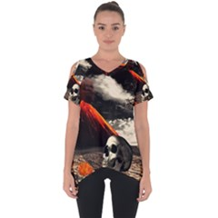Optimism Cut Out Side Drop Tee