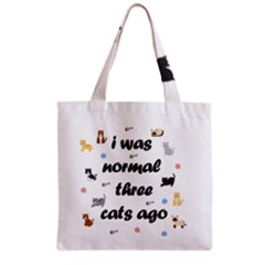 I Was Normal Three Cats Ago Grocery Tote Bag