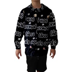I Was Normal Three Cats Ago Hooded Wind Breaker (kids)