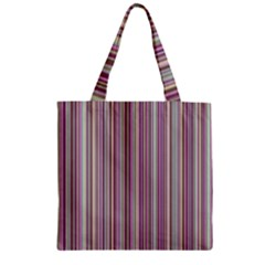 Lines Zipper Grocery Tote Bag