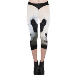 Panda Face Capri Leggings