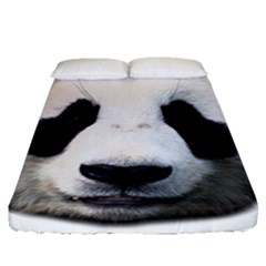 Panda Face Fitted Sheet (queen Size)