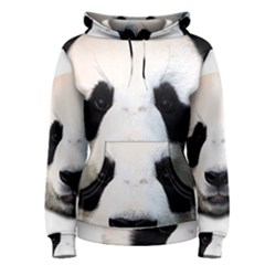 Panda Face Women s Pullover Hoodie