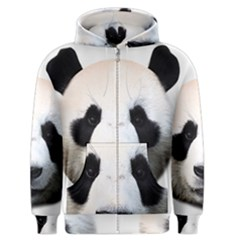 Panda Face Men s Zipper Hoodie