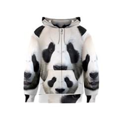 Panda Face Kids  Zipper Hoodie
