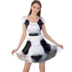 Panda Face Cap Sleeve Dress