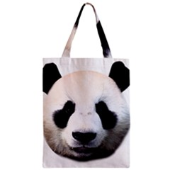 Panda Face Zipper Classic Tote Bag
