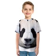 Panda Face Kids  Sport Mesh Tee