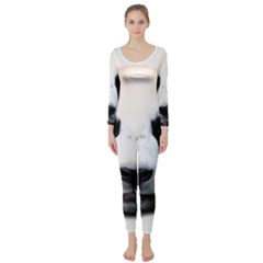 Panda Face Long Sleeve Catsuit