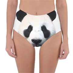 Panda Face Reversible High Waist Bikini Bottoms