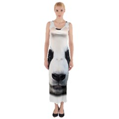 Panda Face Fitted Maxi Dress