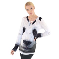 Panda Face Tie Up Tee