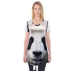 Panda Face Short Sleeve Tunic