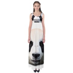Panda Face Empire Waist Maxi Dress