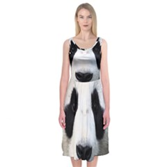 Panda Face Midi Sleeveless Dress