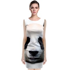Panda Face Classic Sleeveless Midi Dress