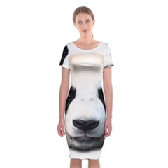 Panda Face Classic Short Sleeve Midi Dress