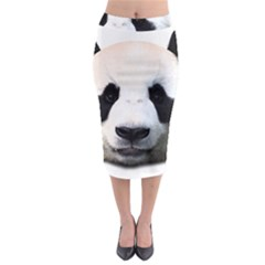 Panda Face Midi Pencil Skirt