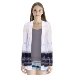 Panda Face Drape Collar Cardigan