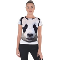 Panda Face Short Sleeve Sports Top