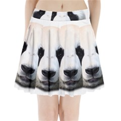 Panda Face Pleated Mini Skirt