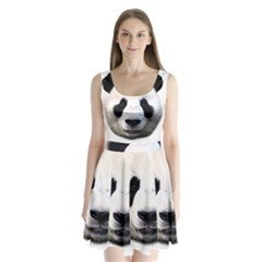 Panda Face Split Back Mini Dress