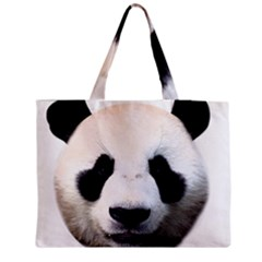 Panda Face Zipper Medium Tote Bag