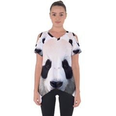 Panda Face Cut Out Side Drop Tee