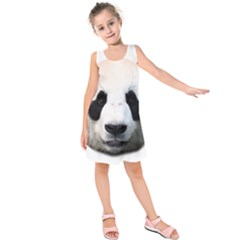 Panda Face Kids  Sleeveless Dress
