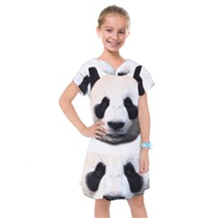 Panda Face Kids  Drop Waist Dress