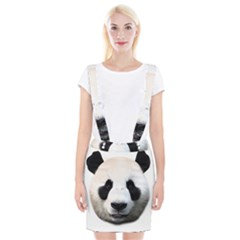 Panda Face Braces Suspender Skirt