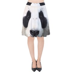 Panda Face Velvet High Waist Skirt