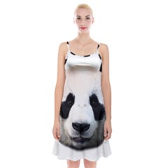 Panda Face Spaghetti Strap Velvet Dress