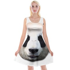 Panda Face Reversible Velvet Sleeveless Dress