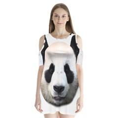 Panda Face Shoulder Cutout Velvet  One Piece