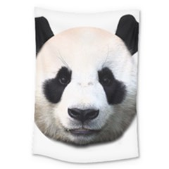 Panda Face Large Tapestry