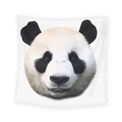 Panda Face Square Tapestry (small)