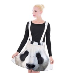 Panda Face Suspender Skater Skirt