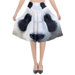Panda Face Flared Midi Skirt