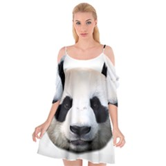 Panda Face Cutout Spaghetti Strap Chiffon Dress