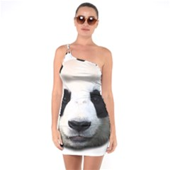 Panda Face One Soulder Bodycon Dress