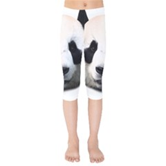 Panda Face Kids  Capri Leggings