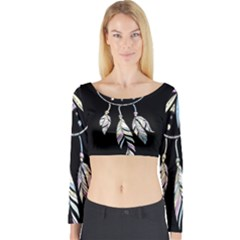 Dreamcatcher  Long Sleeve Crop Top