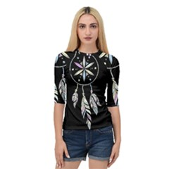 Dreamcatcher  Quarter Sleeve Raglan Tee