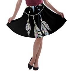 Dreamcatcher  A Line Skater Skirt