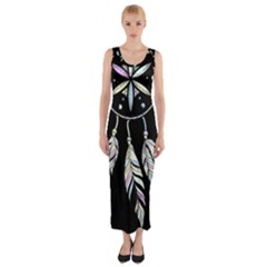 Dreamcatcher  Fitted Maxi Dress